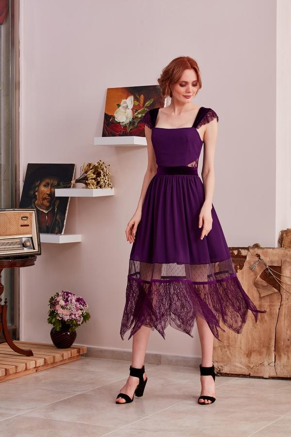 Şifon ve kadife kombinli vintage özel dikim, özel tasarım elbise modellerimiz SerapStyle da uygun fiyatlarla sizler için tasarlandı.