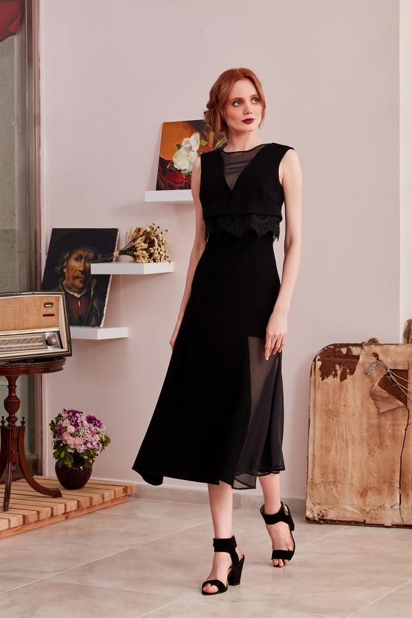 Şifon ve krep kumaştan sıfır kollu, midi boy şık ve modern abiye elbiseler tasarlıyoruz. Sizin için özel dikim de yapıyor ve en kısa sürede ulaştırıyoruz.